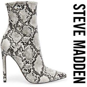 Steve Madden Shoes - New Steve Madden Whimsy Snakeprint Booties
